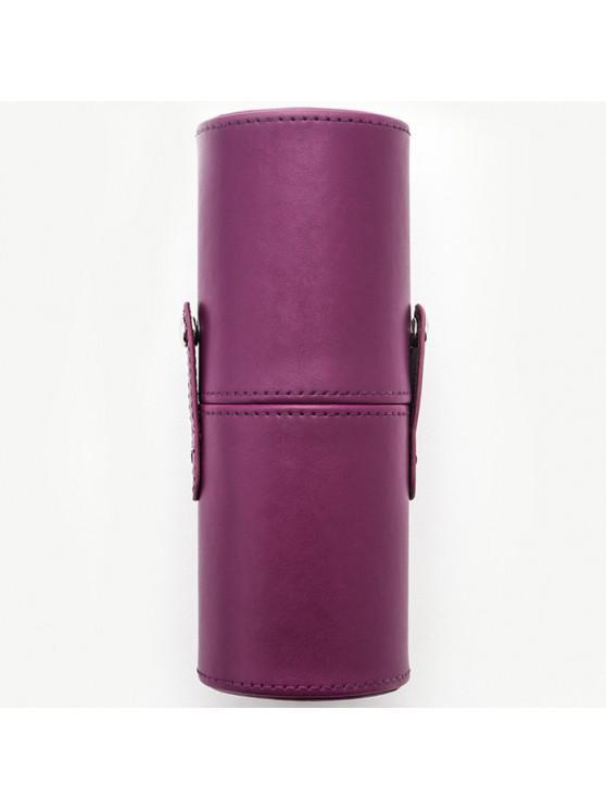 online PU Makeup Brush Storage Bucket Cylinder Bag - DARK ORCHID