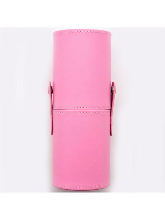 new PU Makeup Brush Storage Bucket Cylinder Bag - PIG PINK