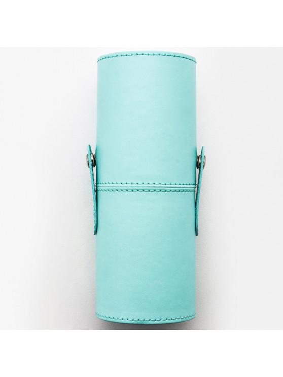 outfits PU Makeup Brush Storage Bucket Cylinder Bag - LIGHT SLATE