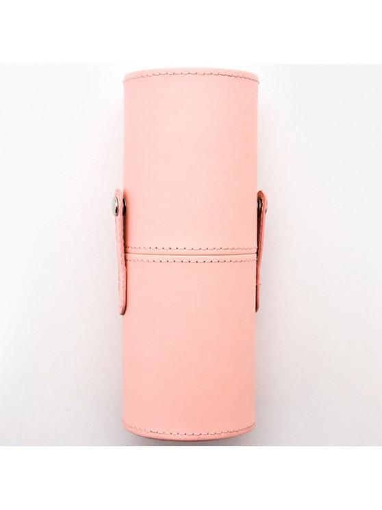 shop PU Makeup Brush Storage Bucket Cylinder Bag - ORANGE PINK