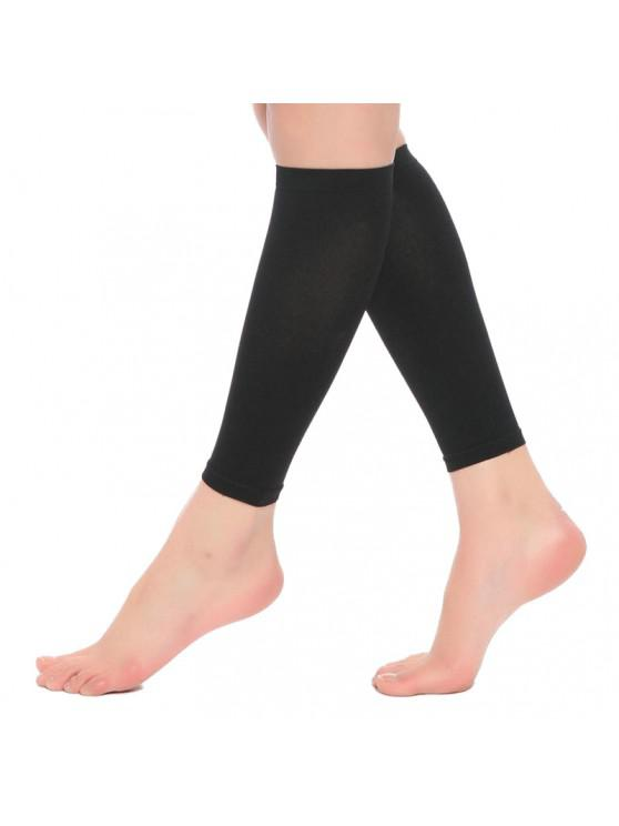 outfits ZT36 Shaping Thin High Elastic Compression Protection Calf Socks - BLACK