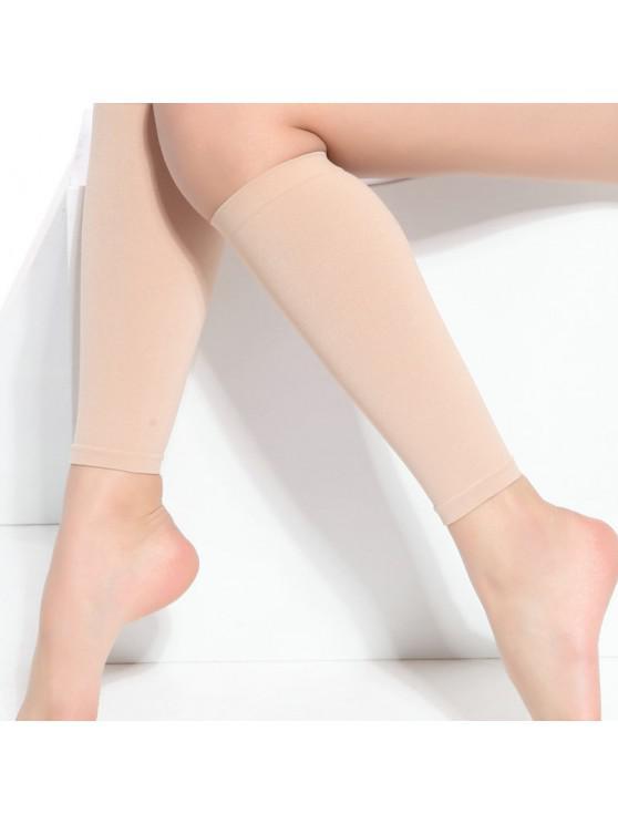ZT36 Chaussettes Molletde Protection à Compression ElastiqueHauteMincedeForme - Blanc Chaud