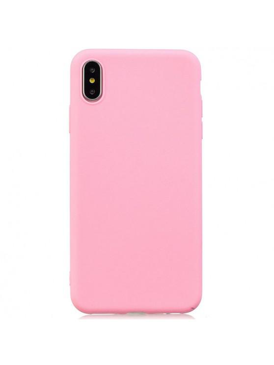 women's TPU Candy Series Phone Case for iPhone XS Max - PINK