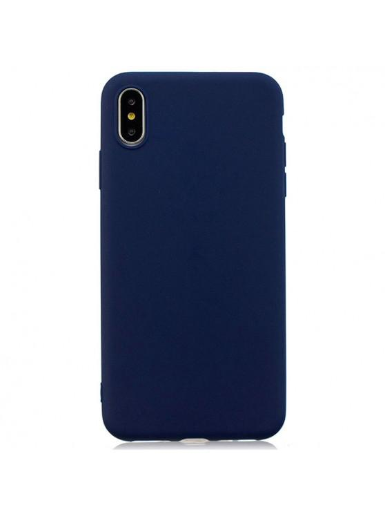 online TPU Candy Series Phone Case for iPhone XS Max - DARK SLATE BLUE