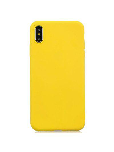 TPU Candy Series Phone Case For IPhone XS Max - Yellow