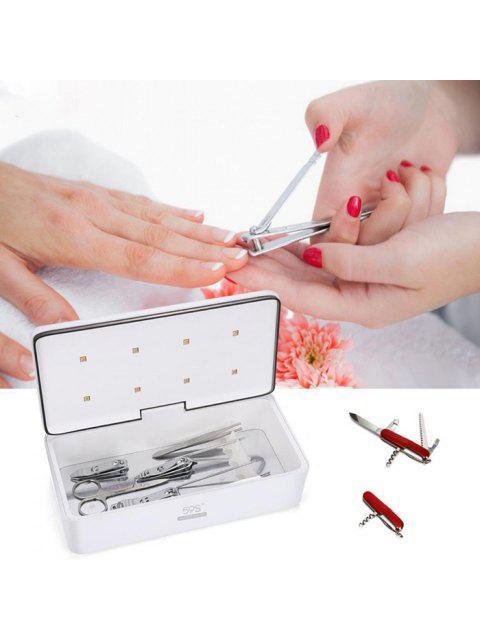 7 ml Boîte de Nettoyage UV LED Clignotant et Portable pour Voyage - Blanc  Mobile