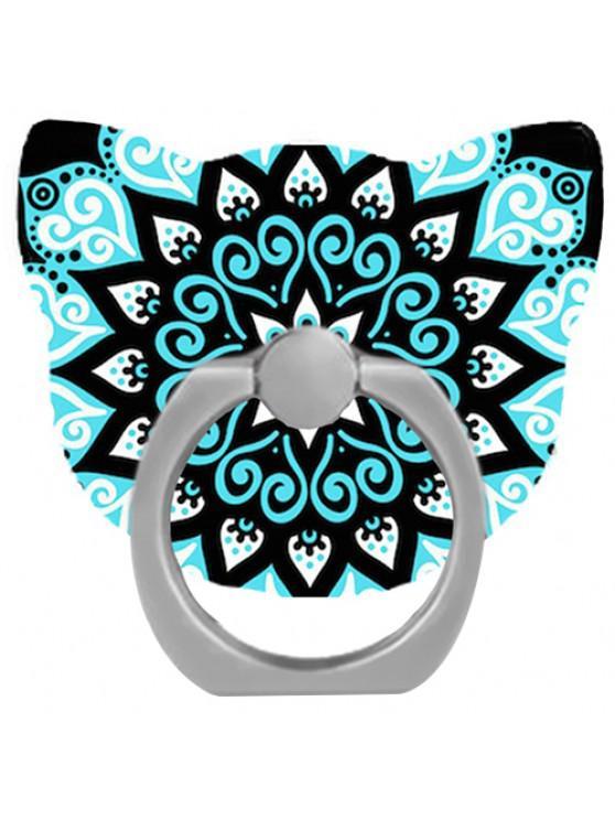outfits 360 Degree Rotating Cat Head Phone Ring Bracket Holder - BLUE ZIRCON