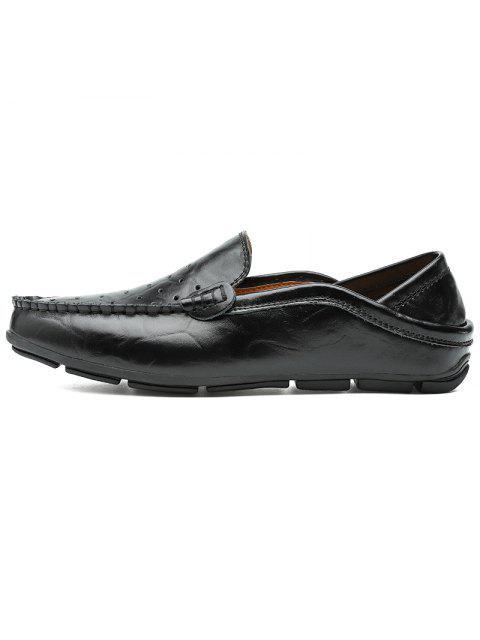 Männer Große Größe Atmungsaktive Ausgehöhlte Schlüpfen Schuhe Weich - Schwarz EU 42 Mobile