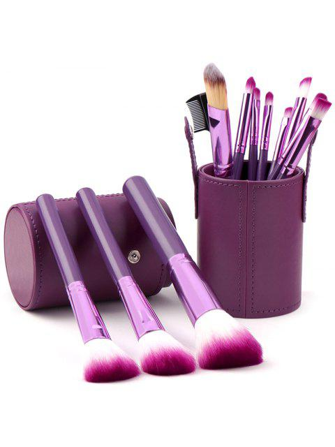 Ensemble de Pinceaux de Maquillage Outils de Beauté Multifonctionnels 12pcs - Pourpre   Mobile