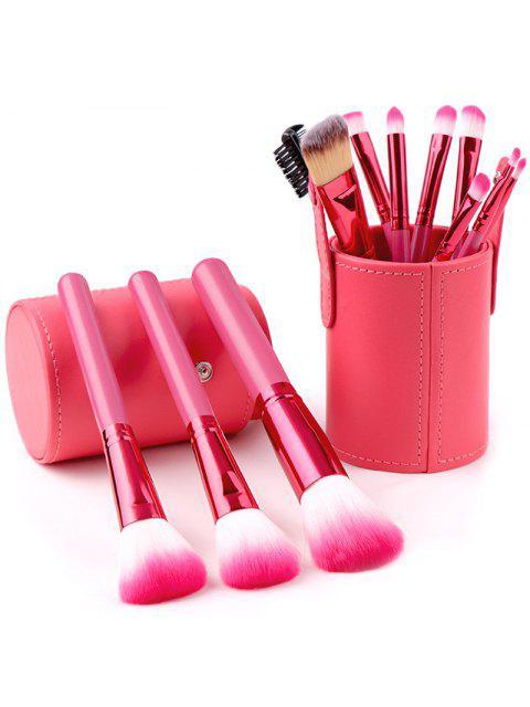 Ensemble de Pinceaux de Maquillage Outils de Beauté Multifonctionnels 12pcs - Rouge  Mobile