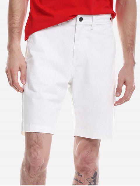 ZAN.STYLE Zip Fly Shorts - 白 35 Mobile
