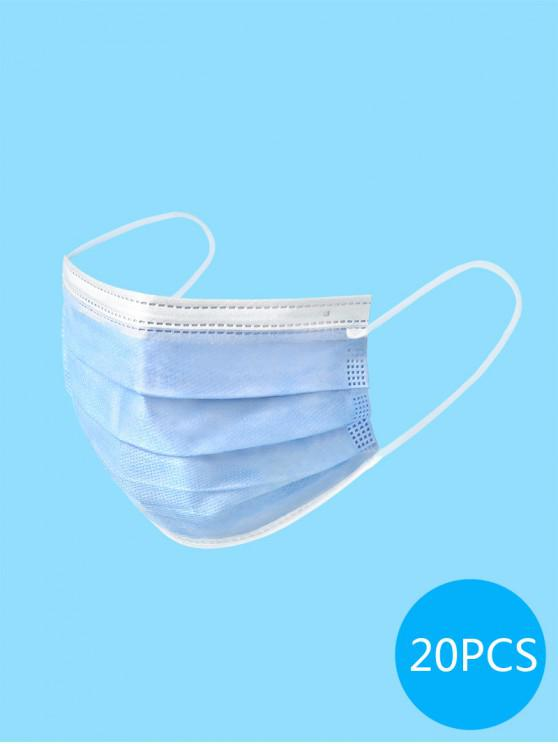 shop 20PCS Disposable Isolation Face Mask with FDA and CE Certification Activated Carbon Masks - DEEP SKY BLUE
