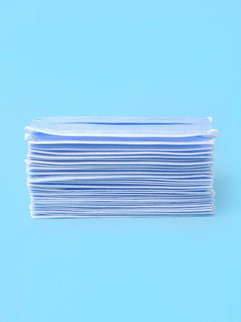 hot 50PCS Disposable Isolation Face Mask with FDA and CE Certification - DEEP SKY BLUE  Mobile