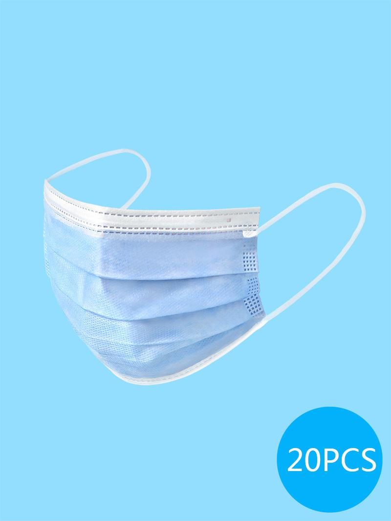 20PCS Disposable Isolation Face Mask with FDA and CE Certification Activated Carbon Surgical Masks