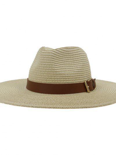 Sombrero De Turismo Nuevo De Ala Grande De Verano De Estilo Británico Sombrero De Turismo De Viaje Exterior - Beige