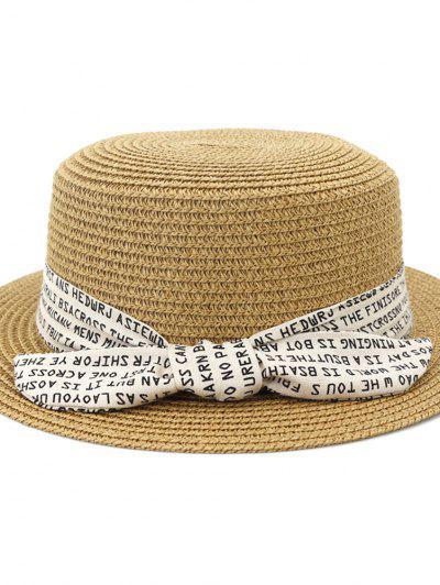XPD002 Sun Hat Flat-topped Men Women Beach Hat Straw Hat - Khaki