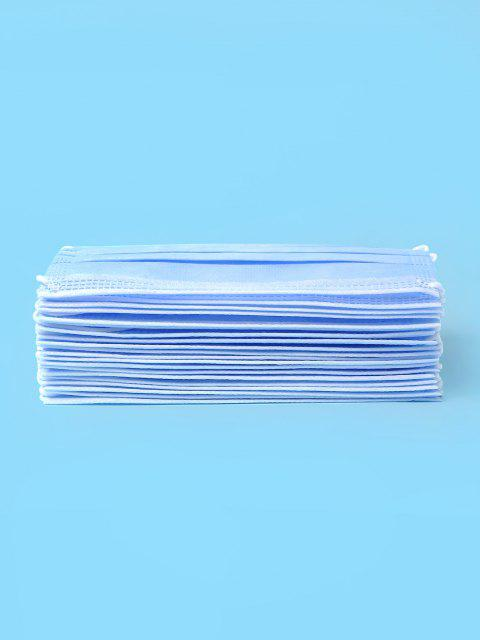 shop 20PCS Disposable Isolation Face Mask with FDA and CE Certification Activated Carbon Masks - DEEP SKY BLUE  Mobile