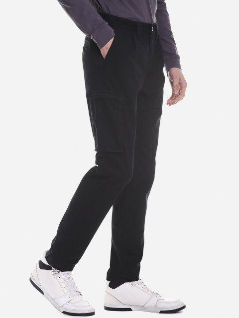 ZANSTYLE Pantalon Ceinturé à Poche Latérale Pour Femme - Noir 34 Mobile