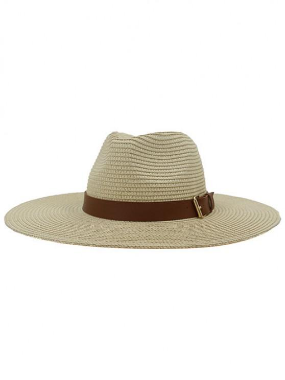 outfit British Style New Spring Summer Large Brimmed Straw Hat Sir Outdoor Travel Tourism Hat - BEIGE