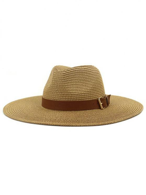 hot British Style New Spring Summer Large Brimmed Straw Hat Sir Outdoor Travel Tourism Hat - KHAKI