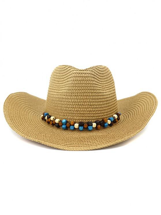 hot NZCM092 Cowboy Hat Seaside Beach Hat Male Outdoor Sun Hat - KHAKI