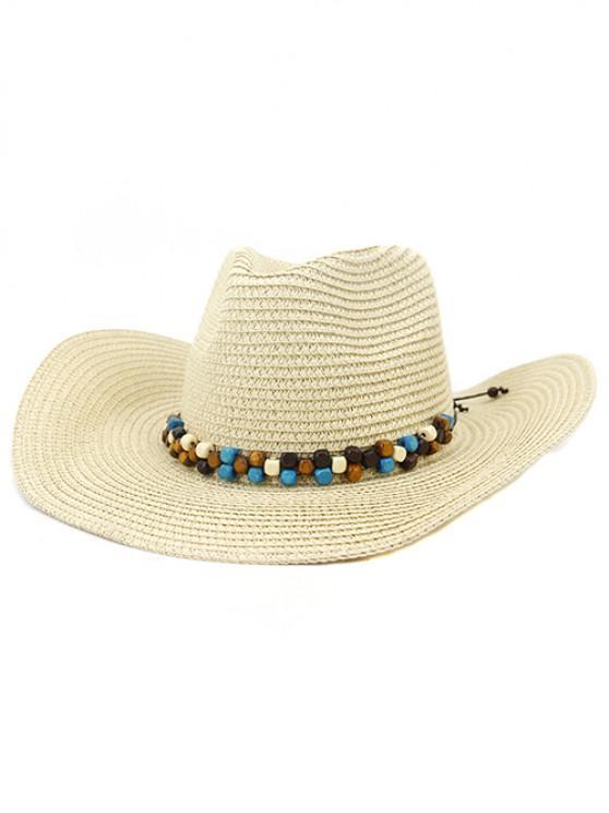 outfits NZCM092 Cowboy Hat Seaside Beach Hat Male Outdoor Sun Hat - BEIGE