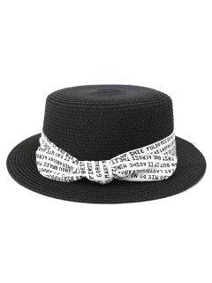 XPD002 Sun Hat Flat-topped Men Women Beach Hat Straw Hat - Black