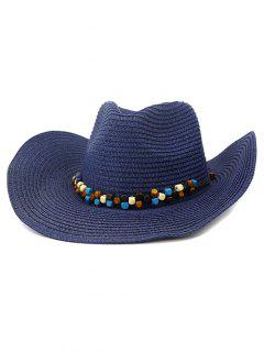NZCM092 Cowboy Hat Seaside Beach Hat Male Outdoor Sun Hat - Cadetblue