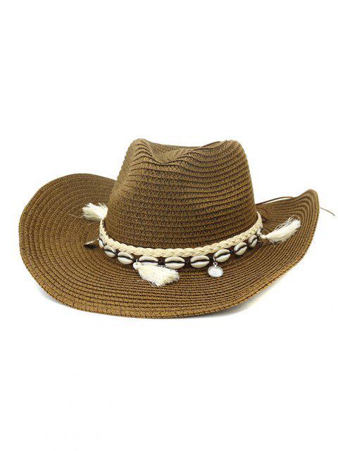 latest NZCM094 Outdoor Men Women Hat Seaside Beach Sun Cowboy Hat - BROWN  Mobile