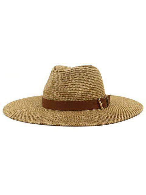 hot British Style New Spring Summer Large Brimmed Straw Hat Sir Outdoor Travel Tourism Hat - KHAKI  Mobile