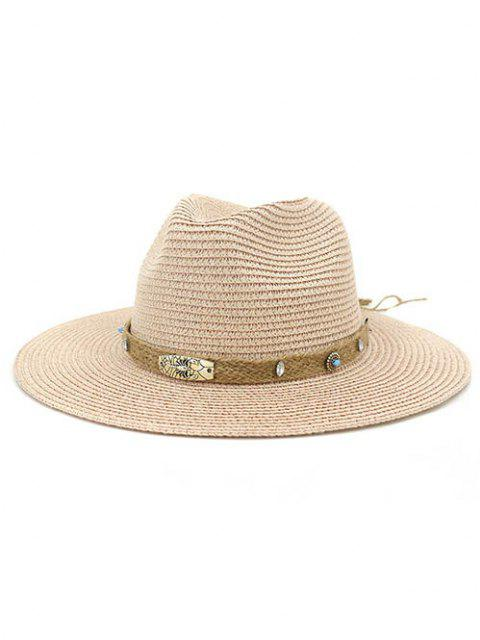 ladies CMDJS237 Straw Hat Jazz Lady Outdoor Beach Sun Hat - LIGHT PINK  Mobile