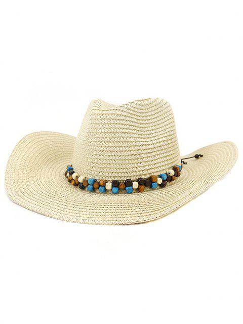 outfits NZCM092 Cowboy Hat Seaside Beach Hat Male Outdoor Sun Hat - BEIGE  Mobile