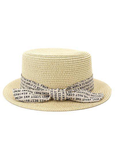 XPD002 Chapeau De Paille à Fond Plat Pour Homme & Femme - Beige