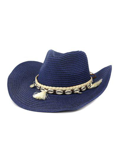 NZCM094 Outdoor Men Women Hat Seaside Beach Sun Cowboy Hat - Cadetblue