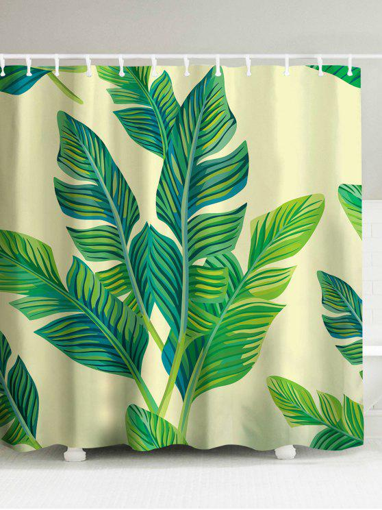 2018 Banana Leaf Painting Polyester Waterproof Shower Curtain In ...