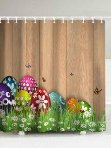 عيد الفصح سعيد كولورول البيض دش الستار - البني الفاتح 180 * 180cm