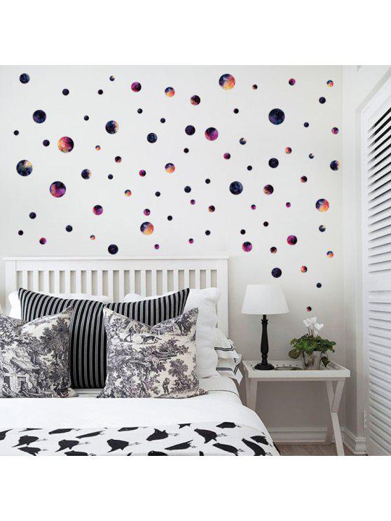 غالاكسي دائرة دي الاطفال غرفة جدار ديكور ملصق - مزيج ملون 45 * 50CM