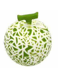 Honeydew Melon Soft PU Foam Squeeze Toy Stress Relief Product Relaxation Gift - Green
