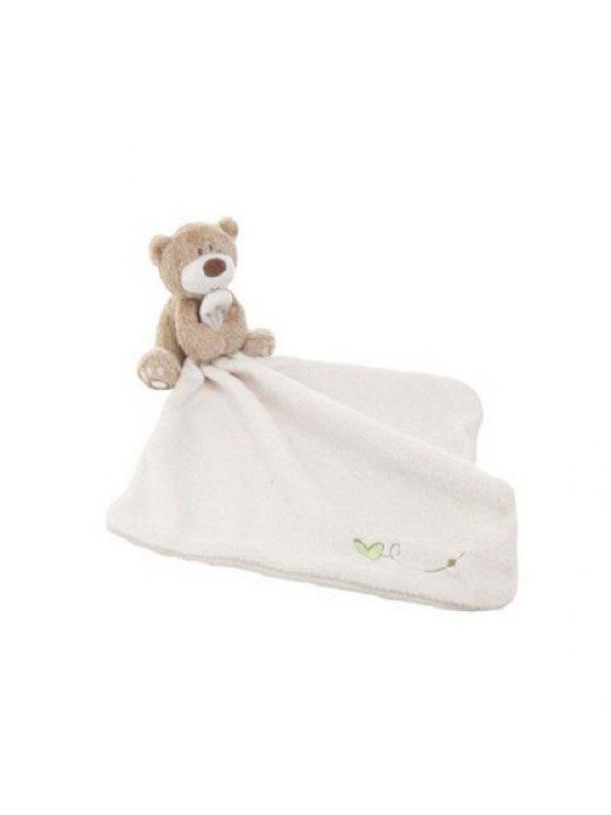 الطفل المرايل لينة اللعاب منشفة طفل الغداء الملابس الرضع منديل مع الكرتون الدب - أبيض