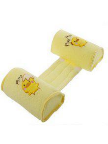 الكرتون الدجاج القطن الطفل النوم منضدة الرضع الفراش وسادة - الأصفر
