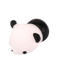 Mini Cartoon Panda TPR Animal Squishy Toy Stress Relief Product Decoration Gift - Black + White