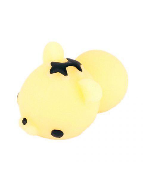 Mini Jouet Spongieux TPR avec Design Tigre Mignon de Dessin Animé Produit Anti-Stress Cadeau de Décor - Jaune  Mobile