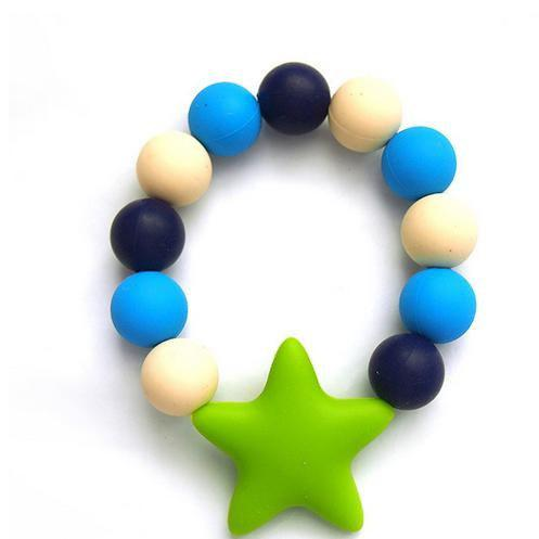 Baby Infant Silicone Teether Bracelet Soft Chewable Ring Soothing Pain Relief 216908301