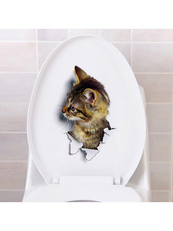 3d القط الحيوان نوم ديكور الجدار ملصق - BROWN نمط B