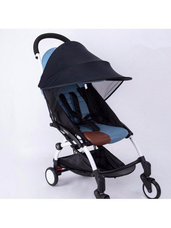 أنتي أوف القماش الطقس برهان عربة طفل ظلة الستارة غطاء ل عربات مقعد السيارة متوافق - أسود