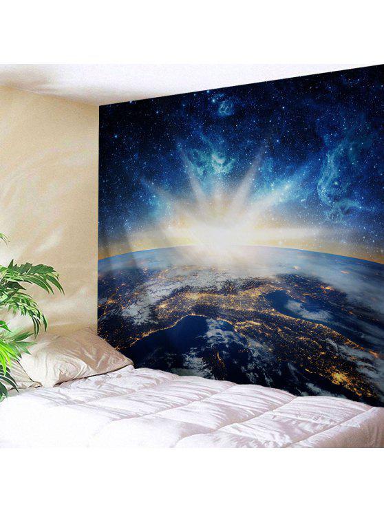 العالمي جدار الفضاء بطانية شنقا نسيج - منتصف الليل W71 بوصة * L91 بوصة