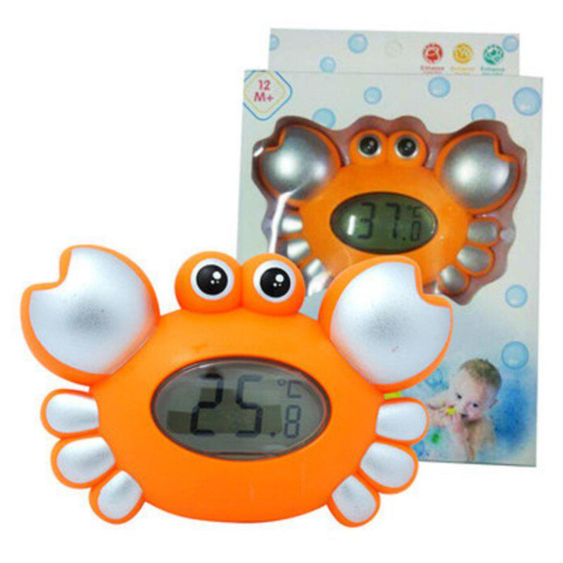 Cute Crab Pattern Baby Bath Floating Toy Tub Thermometer Water Temperature Tester 221030401