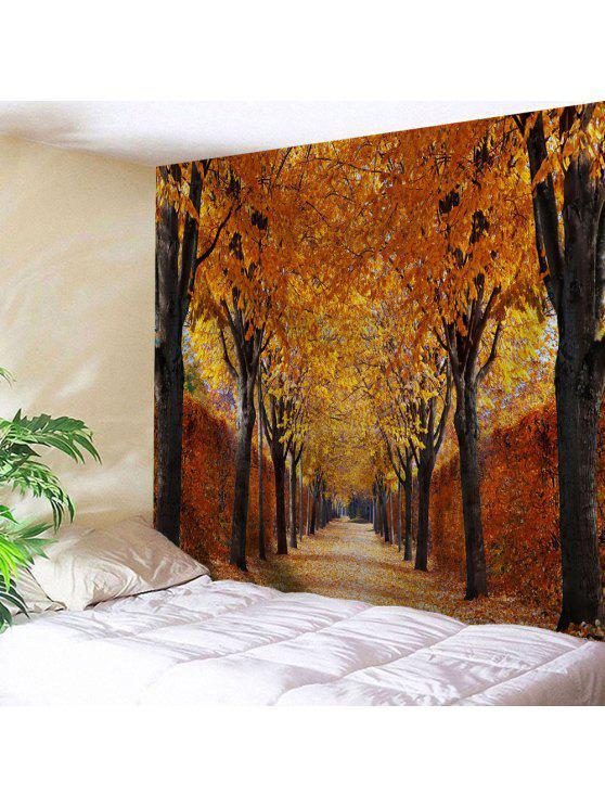 خريف العمر، البستان، ديكور، رمي، جدار الفن، تيبستري - الذهب البني W71 بوصة * L91 بوصة