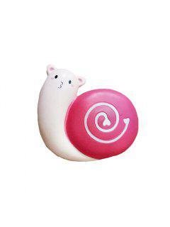 Cartoon Snail Squishy Toy PU Foam Stress Reliever Decor Gift - Light Pink