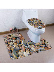 أحجار البحر نمط 3 قطع المرحاض حصيرة حمام حصيرة
